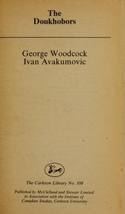 The Doukhobors by George Woodcock