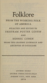 Cover of: Folklore From the Working Folk of Americ