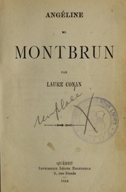 Cover of: Angéline de Montbrun