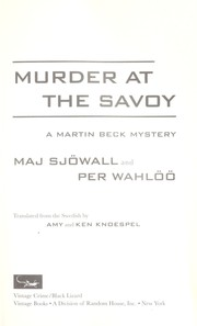 Cover of: Murder at the Savoy