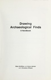 Cover of: Drawing archaeological finds