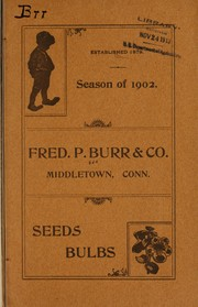 Cover of: Season of 1902 | Fred. P. Burr & Co