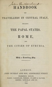 Cover of: Handbook for travellers in central Italy by John Murray (Firm)