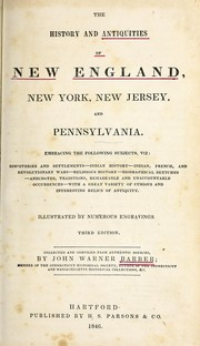 Cover of: The history and antiquities of New England, New York, New Jersey, and Pennsylvania