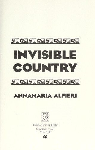 Invisible country by Annamaria Alfieri