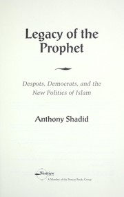 Cover of: Legacy of the prophet