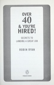 Cover of: Over 40 & you're hired!