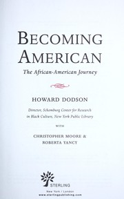 Cover of: Becoming American: the African-American journey