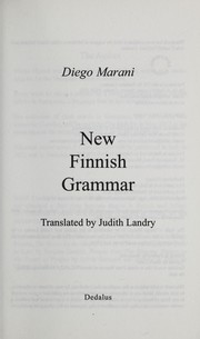 Cover of: New Finnish Grammar | Diego Marani