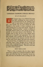 Canadian Diamond Jubilee medals by R. W. McLachlan