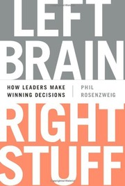 Cover of: Left Brain, Right Stuff: How Leaders Make Winning Decisions