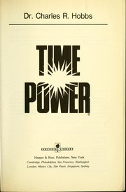 Cover of: Time power