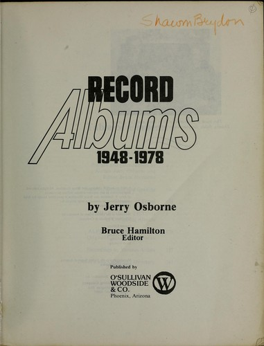 Record albums, 1948-1978 by Jerry Osborne