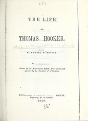 Cover of: The life of Thomas Hooker