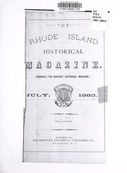 Cover of: The Rhode Island historical magazine