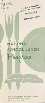 Cover of: National School Lunch Program