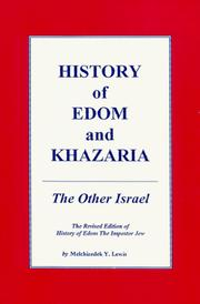Cover of: History of Edom and Khazaria | Yohanan Lewis