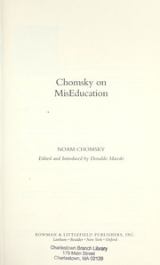 Cover of: Chomsky on miseducation