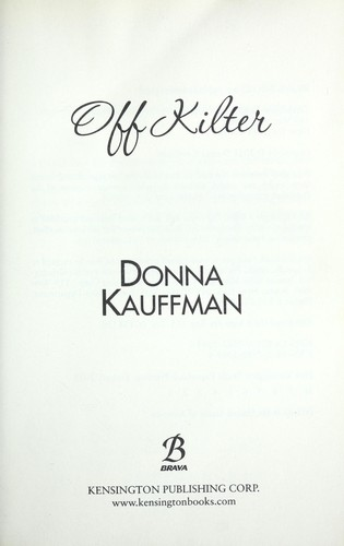 Off kilter by Donna Kauffman