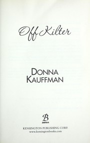 Cover of: Off kilter | Donna Kauffman