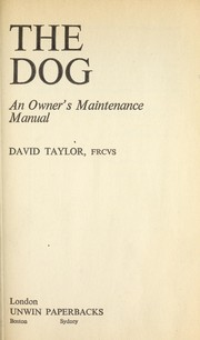 Cover of: The dog | Taylor, David