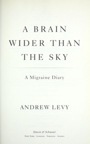 Cover of: A brain wider than the sky