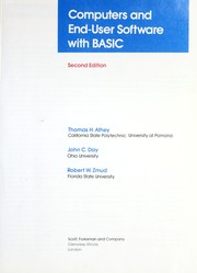 Cover of: Computers and end-user software with BASIC | Thomas H. Athey