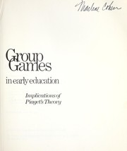 Cover of: Group games in early education