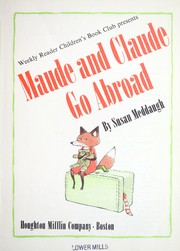 Cover of: Maude and Claude go abroad