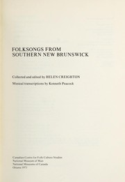 Cover of: Folksongs from Southern New Brunswick