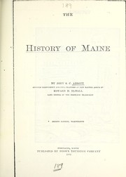 Cover of: The history of Maine