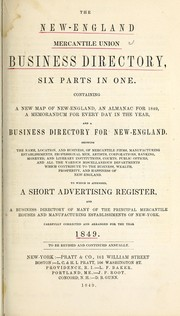 Cover of: New England Merchantile Union business directory for, 1849 |