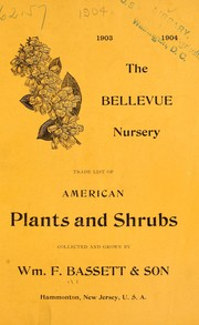 Cover of: Trade list of American plants and shrubs | Wm. F. Bassett & Son