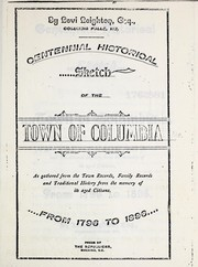 Cover of: Centennial historical sketch of the town of Columbia, Me | Levi Leighton