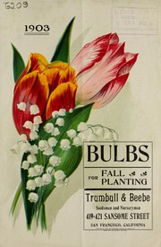 Bulbs for fall planting 1903 by Trumbull & Beebe