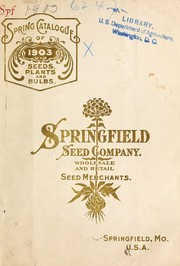 Cover of: Annual catalogue for 1903 | Springfield Seed Company