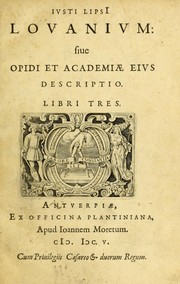 Cover of: Lovanivm