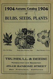 1904 autumn catalog of bulbs, seeds, plants by Trumbull & Beebe