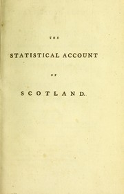 Cover of: The statistical account of Scotland