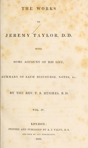 Cover of: The works of Jeremy Taylor