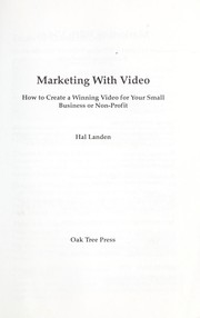 Cover of: Marketing with video