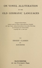 Vowel Alliteration in the Old Germanic Languages