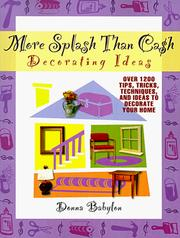 Cover of: More Splash Than Cash Decorating Ideas