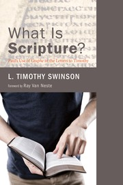 Cover of: What is Scripture? |