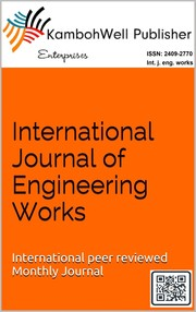 Cover of: International journal of Engineering Works (ISSN:2409-2770) |