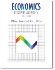 Cover of: Economics, principles, and policy | William J. Baumol
