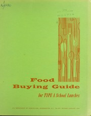 Cover of: Food buying guide for type A school lunches