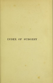 Cover of: An index of surgery | Charles Robert Bell Keetley