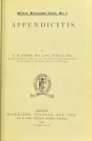 Cover of: Appendicitis