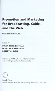 Promotion and marketing for broadcasting, cable, and the Web